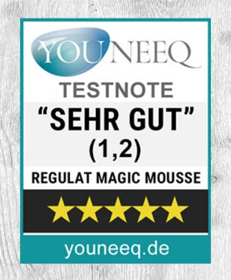 Regulat Magic Mousse Testsiegel