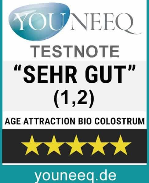 Bio Colostrum Age Attraction Testsiegel