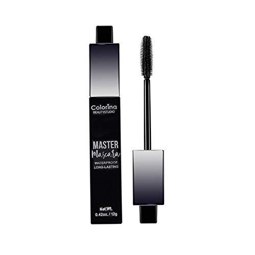 Mascara Wasserfeste Wimperntusche, 4D Silk Fibre Lash Mascara Schwarz für...