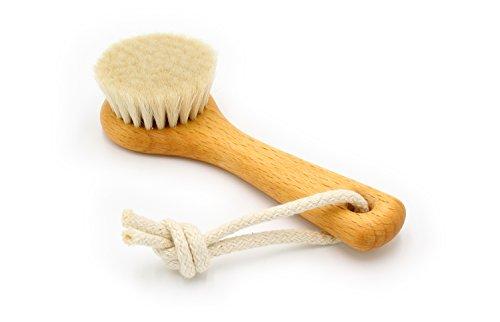 Gesichtsbürste, 128 mm, heimisches Buchenholz, geölt, weiches Ziegenhaar mit...