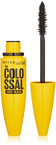 Maybelline The Colossal 100% Black Mascara, Schwarz, 10,7 ml