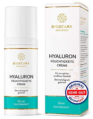 Bioscara Hyaluron Creme Gesicht 50ml hochdosiert I Anti Aging Tagescreme &...