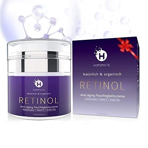 Retinol Feuchtigkeitscreme Creme, Anti-Aging & Anti Falten Creme von HOPEMATE...