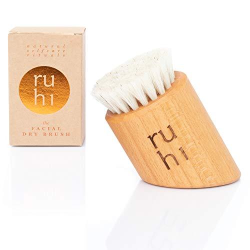 ruhi® Gesichtsbürste zur Trockenbürsten Massage made in DE 100% Natur-Borsten...