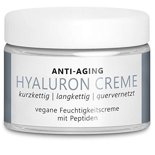 TESTSIEGER 2020* Vegane Anti-Aging Hyaluron Creme 50 ml mit 3 hochdosierten...