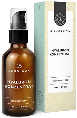 Junglück Hyaluron Konzentrat - vegan | 50 ml in Braunglas | hochdosiertes...