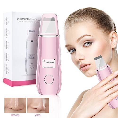 Ultraschallpeelinggerät Haut Scrubber mit LCD Anzeige USB-Kabel, Ultraschall...