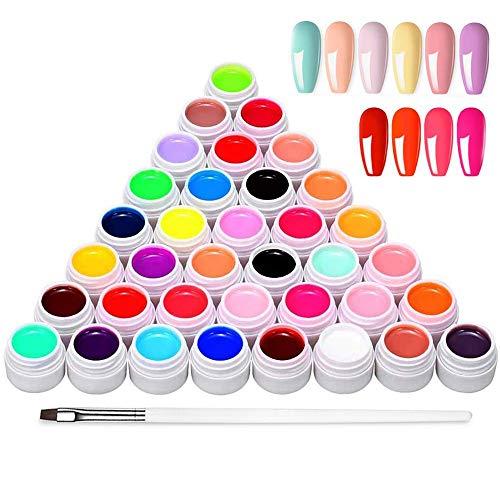 Anself 36 Farben UV farbgel, UV Gel...
