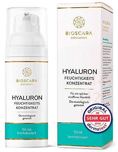 NEU: Bio Hyaluron Serum extra hochdosiert 50ml vegan - Anti Falten Effekt...