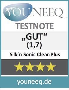 Silk'n Sonic Clean PLus Test Siegel youneeq