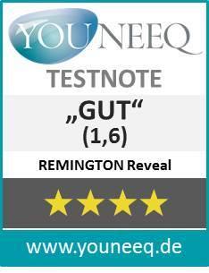Remington Reveal Gesichtsbürste Testsiegel Youneeeq