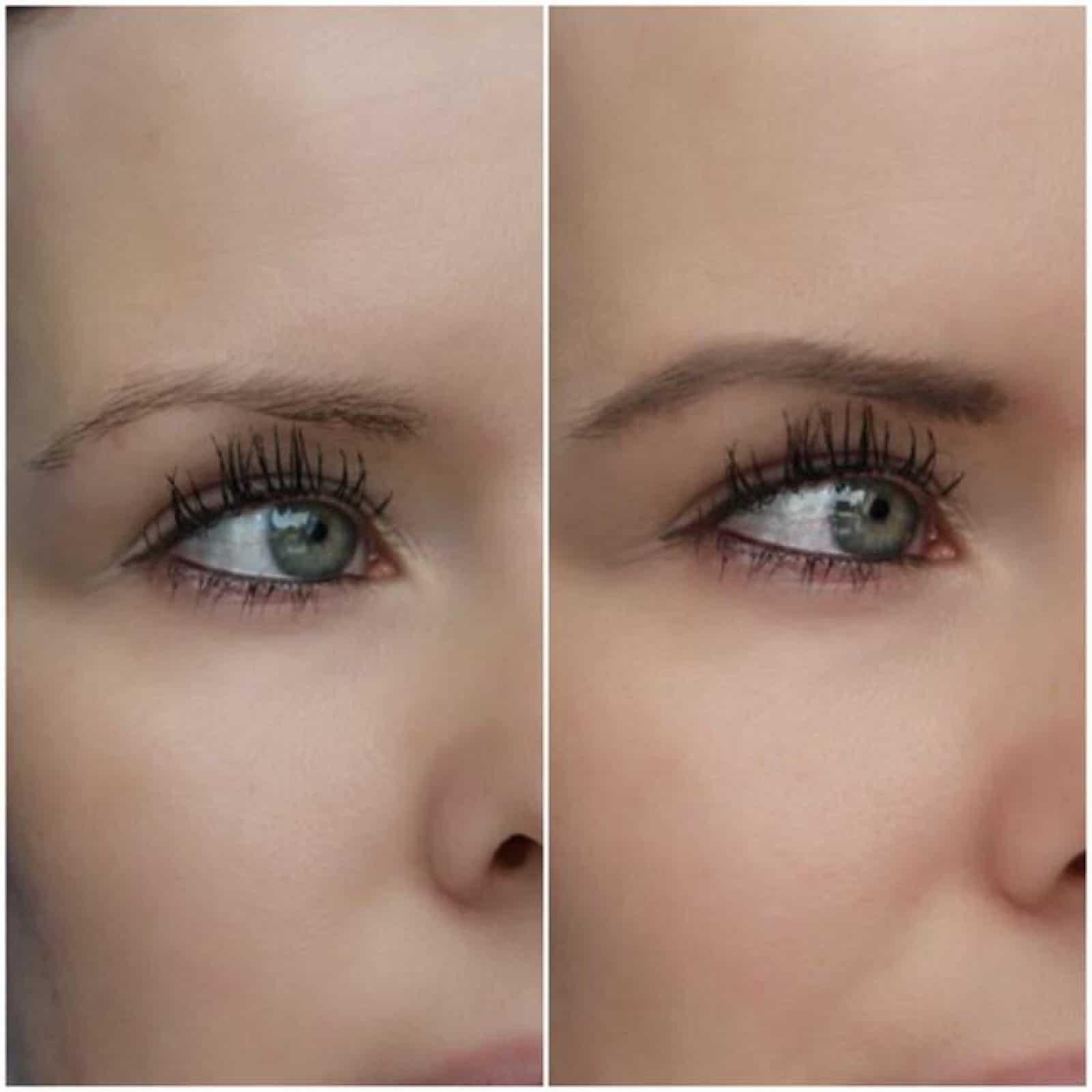 Augenbrauen schminken vorher-nachher