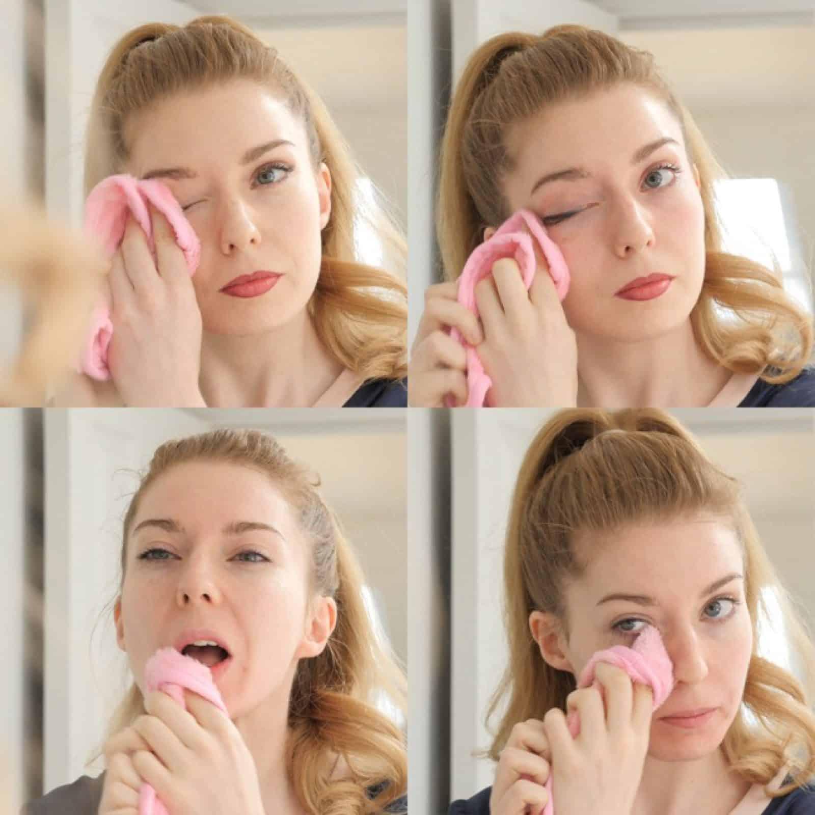 Make-Up Radierer Anwendung