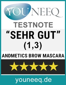 Andmetics Brow Mascara Test