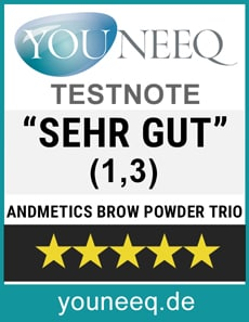 Andmetics Brow Powder Trio Test