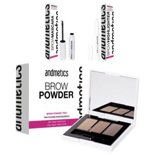 andmetics Test Augenbrauenprodukte