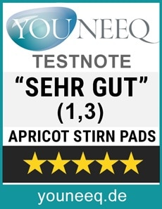 Apricot Stirn Pads Test Sehr Gut