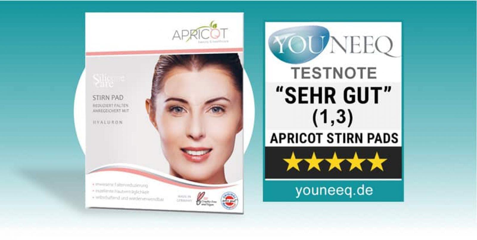 Apricot Stirn Pads Test Youneeq
