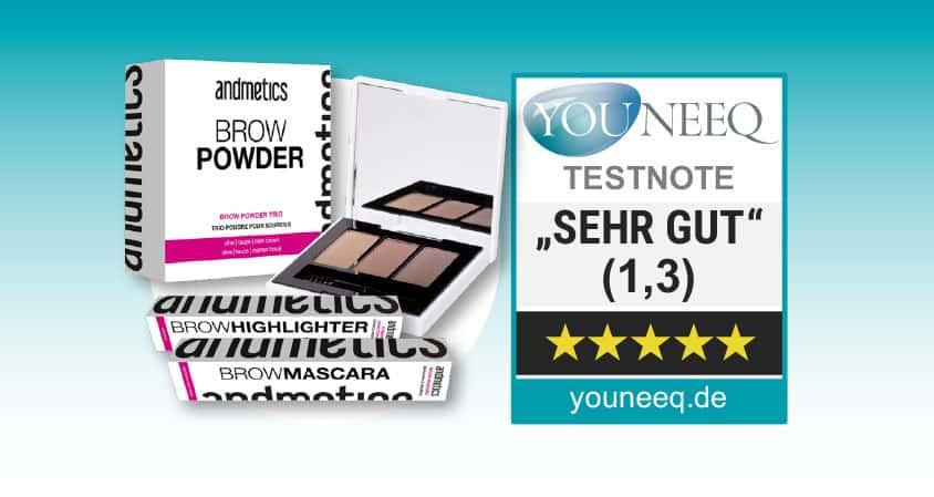 Augenbrauen schminken Andmetics Test
