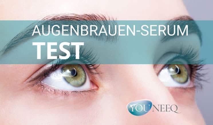 Augenbrauenserum Test