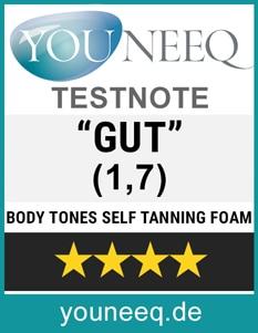 Body Tones Self Tanning Test