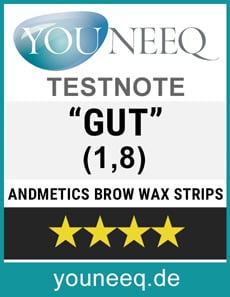 Andmetics Brow Wax Stripes Test Siegel