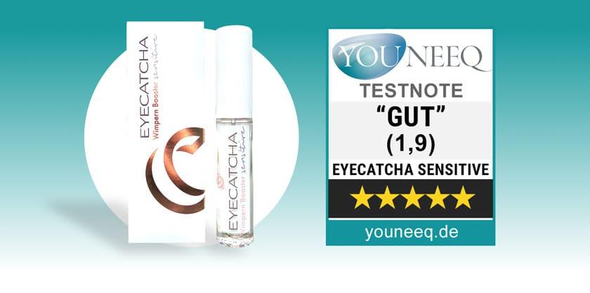 Eyecatcha Sensitive Wimpernserum Test