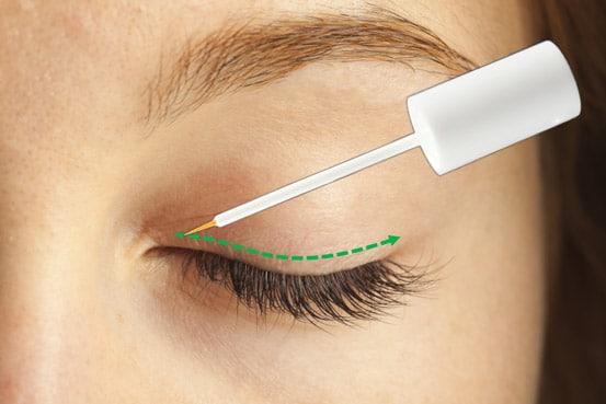 Eyecatcha Wimpernserum Anwendung