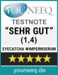 EYECATCHA Wimpernserum Testsiegel