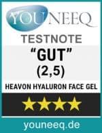 Heavon Hyaluron Face Gel Testsiegel Youneq