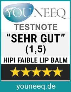 Hipi Faible Lip Balm Test