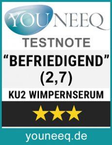 KU2 Wimpernserum Testergebnis