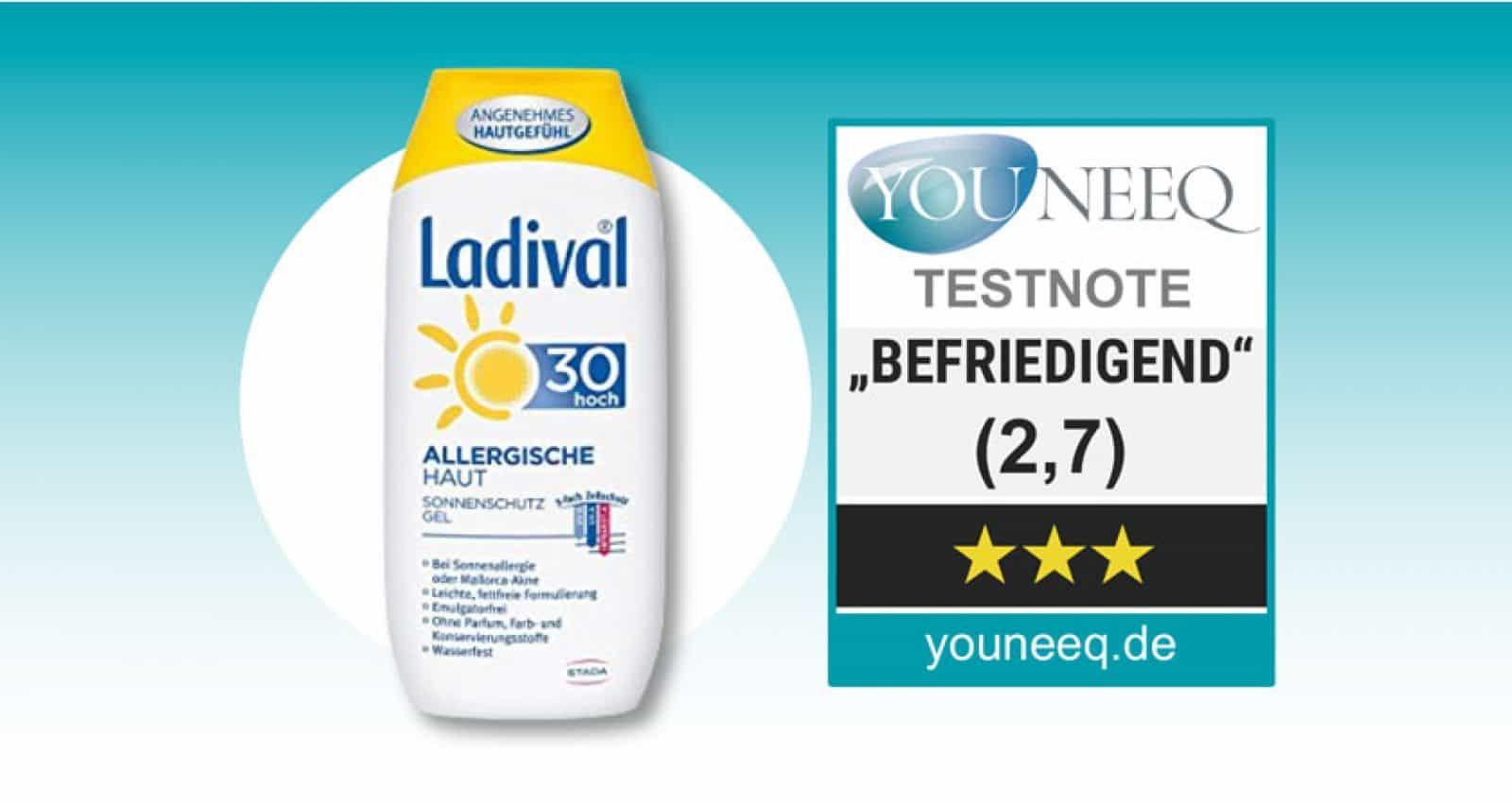 Ladival Sonnencreme Test SPF30