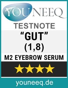 M2 Augenbrauenserum Test