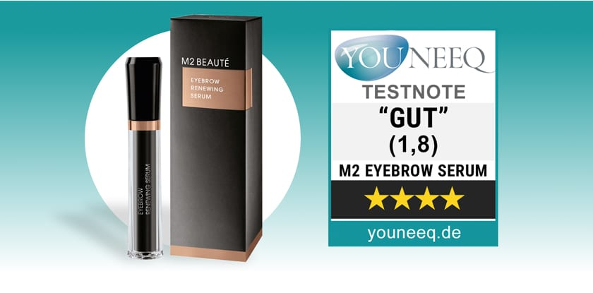 M2 Brows Augenbrauen Serum Test