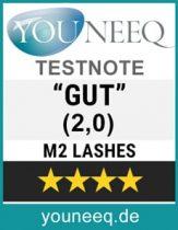 M2 Lashes Augen Wimpern Serum Test