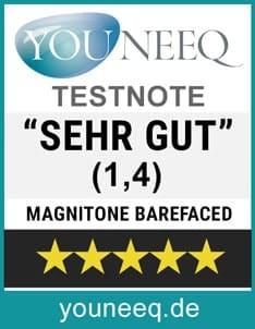 Magnitone Barefaced Gesichtsbürste Testsiegel Youneeq