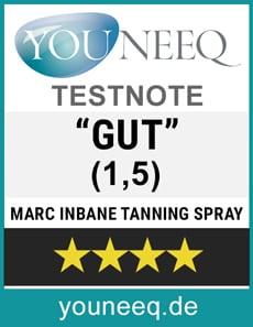 Marc Inbane Natural Tanning Spray Test Siegel