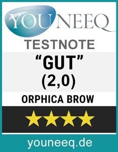 Orphica Brow Augenbrauenserum Test GUT