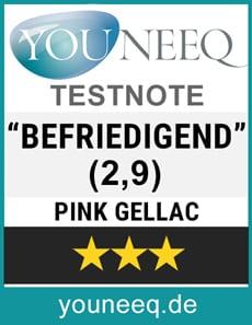 Pink Gellac Starterkit Test-Siegel