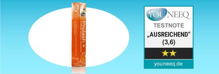 Prolash+ Wimpernserum Testsiegel Youneeq