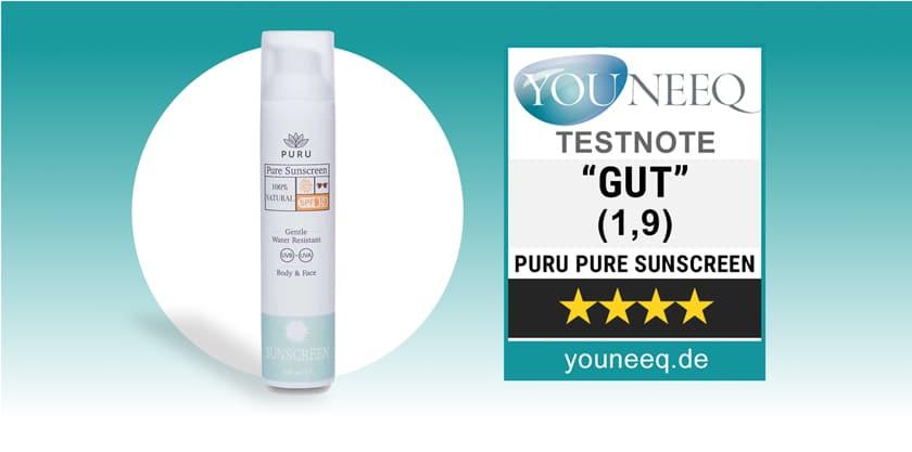 PURU Sunscreen Test