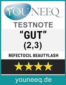 Refectocil Wimpernserum Test Testsiegel Youneeq