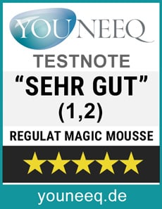 Regulat Magic Mousse Test Siegel