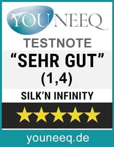 Silk'n Infinity IPL Geräte Testsiegel Youneeq