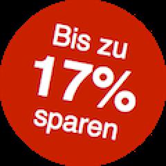17% sparen