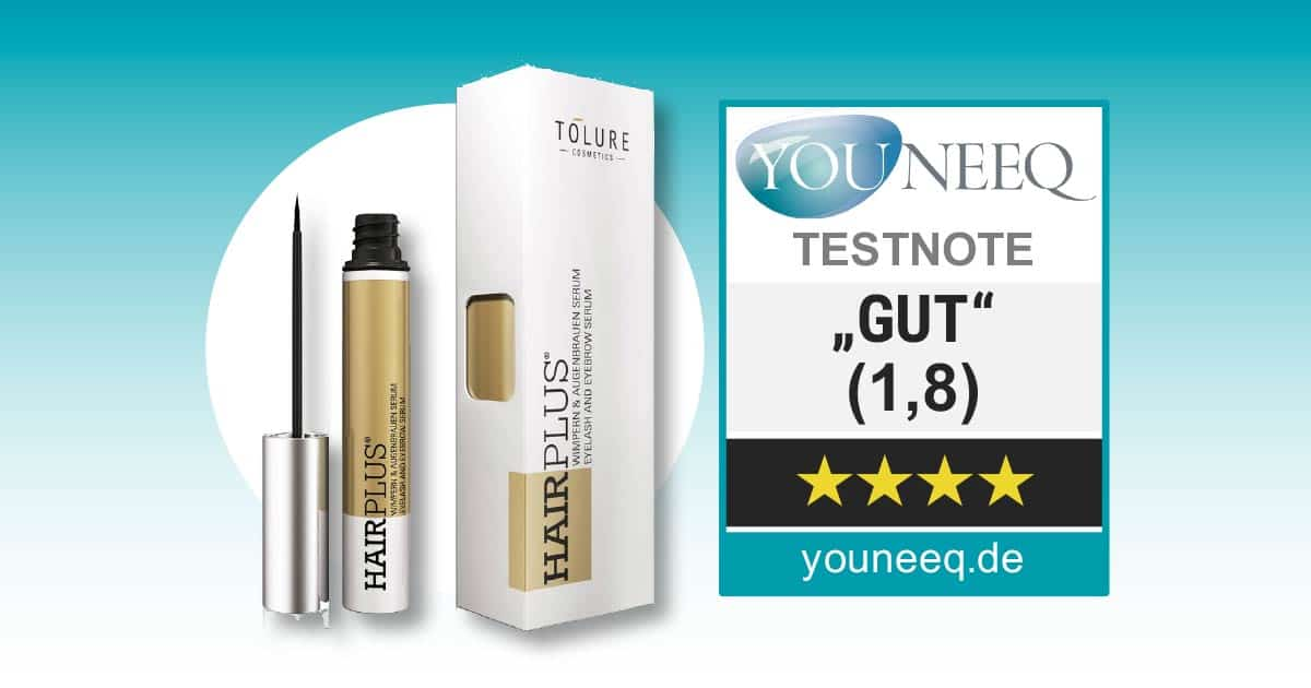 Tolure Hairplus Wimpernserum Test