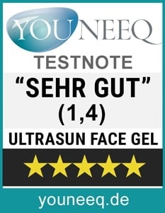 Ultrasun Face Gel SPF 50 Test