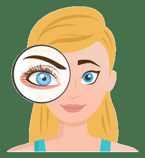 Wimpern Wachstum mit Wimpernserum
