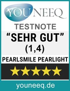 Zähne aufhellen Pearlsmile Test